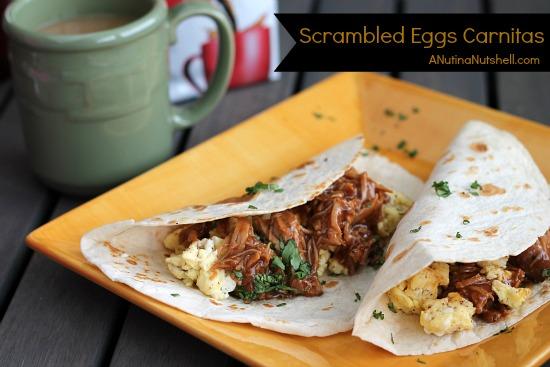 Scrambled Eggs Carnitas recipe
