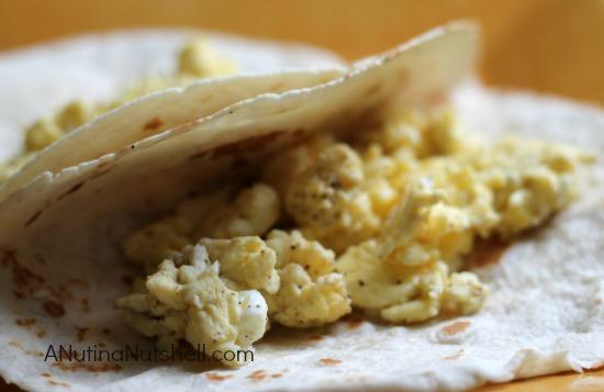 scrambled eggs tortillas