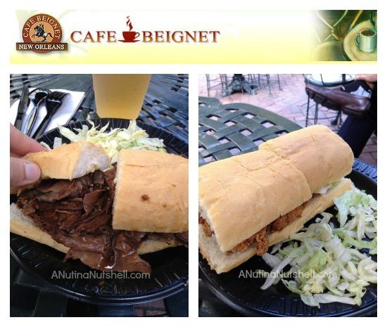 Cafe Beignet - po'boy sandwiches - Musical Legends Park