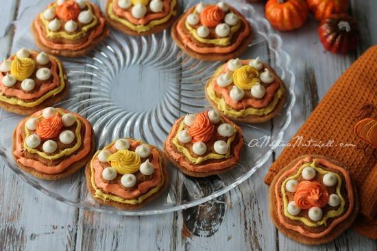 Fall Flower cookies - molded flower cookies