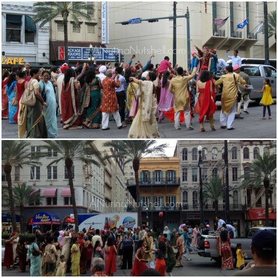 Indian wedding on Canal Street - New Orleans