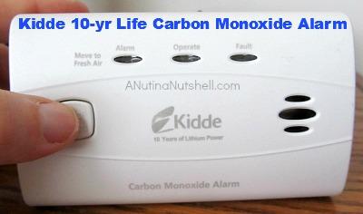 Kidde 10-yr life carbon monoxide alarm
