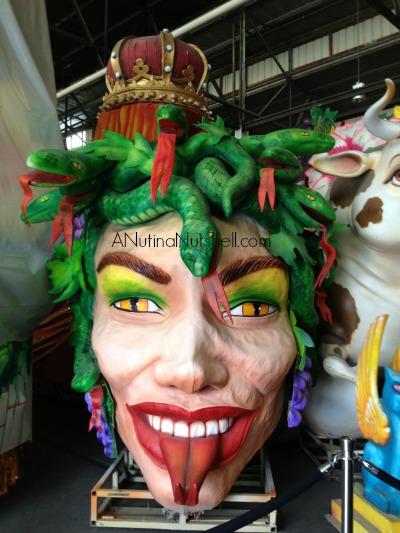 Mardi Gras World Medusa float - New Orleans