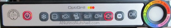 OptiGrill automatic cooking functions