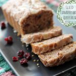 Glazed Cranberry Orange Quick Bread (Good Cook Leftover-Inspired Recipe Link-up #8)