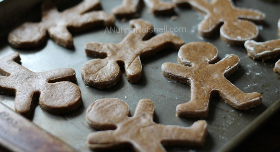 gingerbread cookies on cookie sheet