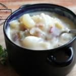 Cheesy Potato Soup with Bacon (Slow Cooker Recipe)