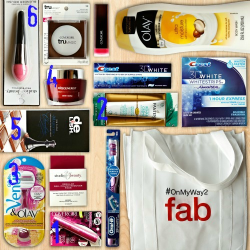 #OnMyWay2Fab prize pack featured items