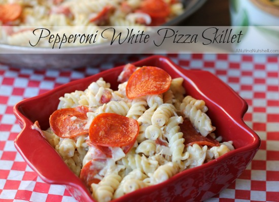 Pepperoni White Pizza Skillet-recipe