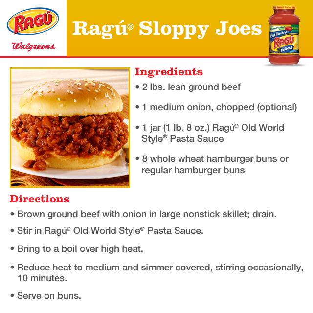 Ragu Sloppy Joes recipe
