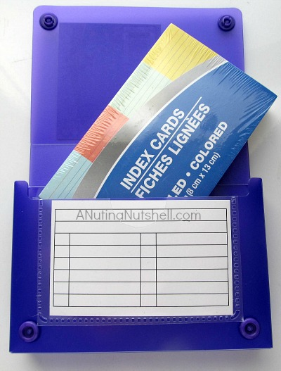 Index card case-cards - Dollar Tree