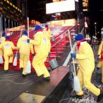 Mr. Clean Liquid Muscle Takes On Times Square Clean-up #NewYearsClean