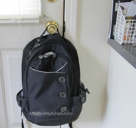 backpack by door
