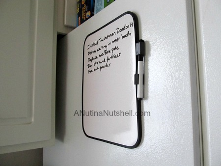 dry erase note board - Dollar Tree