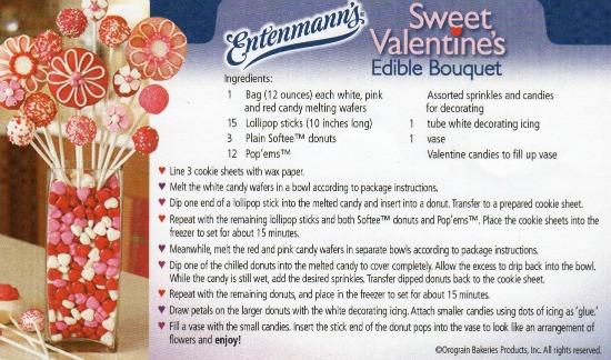 Entenmann's Sweet Valentine Edible Bouquet