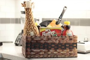 Mrs. Butterworth Giraffe Prize Basket