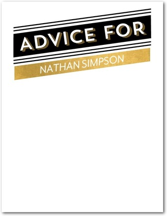advice card