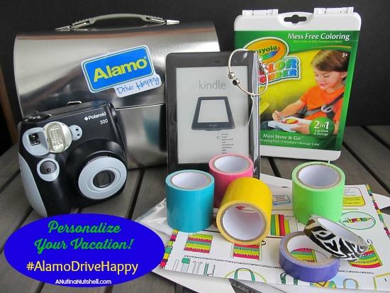 Alamo Personalize Your Vacation #AlamoDriveHappy box