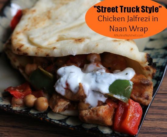 Chicken Jalfrezi in Naan Wrap - Street Truck Style
