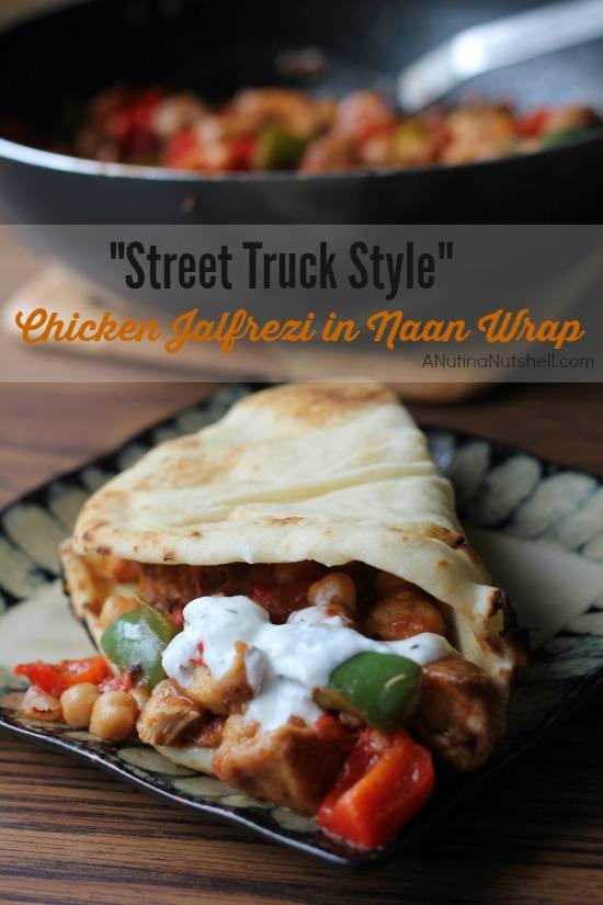 Street Truck Style - Chicken Jalfrezi in Naan Wrap