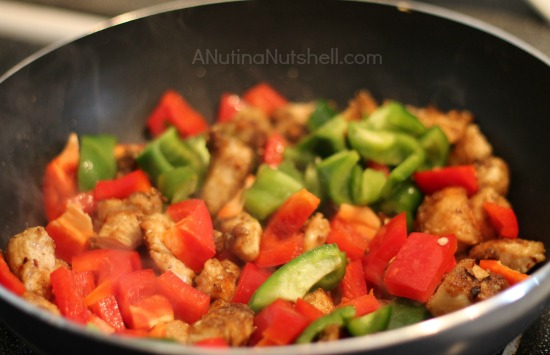 add bell peppers to chicken jalfrezi