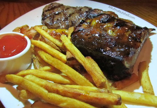 Moonshine BBQ steak and ribs combo Outback Steakhouse