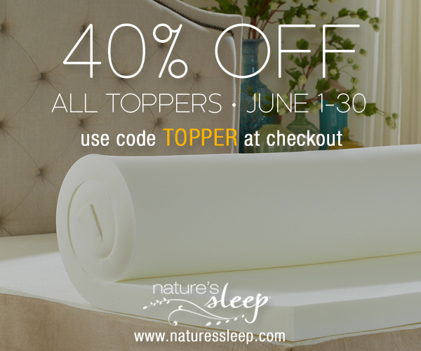 Nature's Sleep Toppers sale