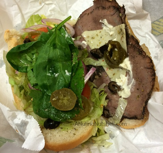 Subway sandwich #PileOnTheVeggies