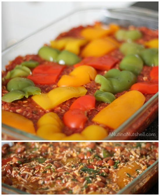 how to make stuffed pepper bake