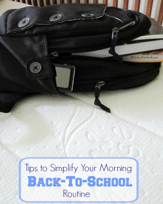 tips to simplify your morning back to school routine