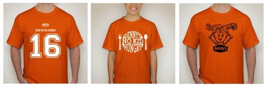 Denny's No Kid Hungry T-shirts