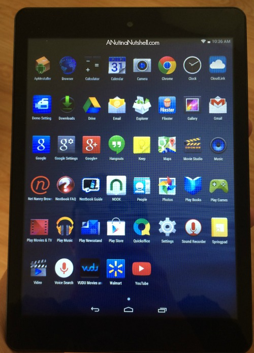 Nextbook 8 Android Tablet pre-loaded apps