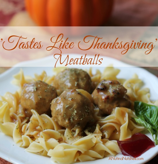 tastes like Thanksgiving meatballs