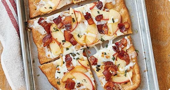 Bacon Apple Cheese Flatbread