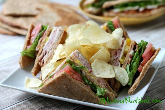 flatbread club sandwich