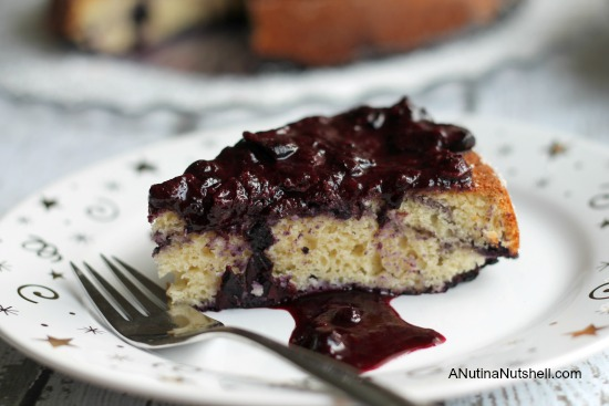 Blueberry coffeecake with blueberry compote (gluten free)