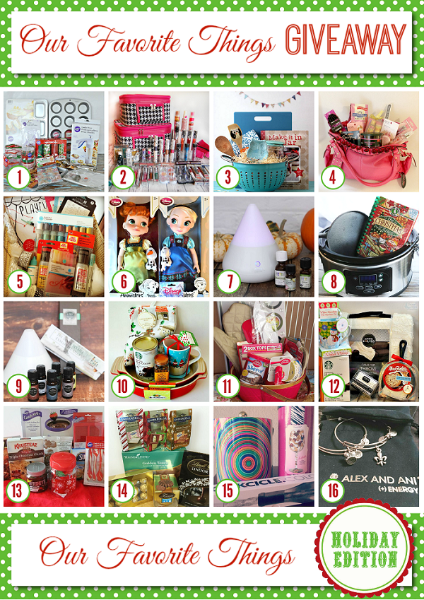 Favorite Things Giveaway - Holiday 2014 600