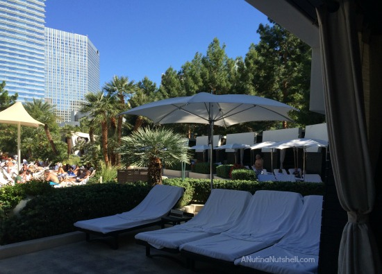 private cabana - ARIA hotel and casino pool