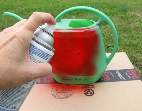 spray paint watering can