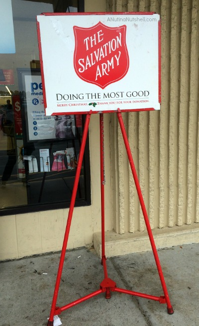 Salvation Army kettle stand