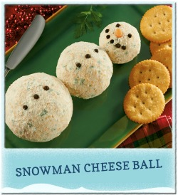 Snowman Cheese Ball_KraftFoodsHub_Walmart