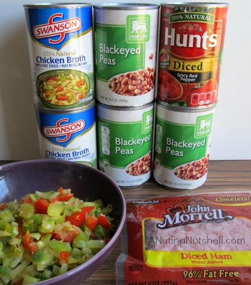 ingredients for Hoppin John recipe