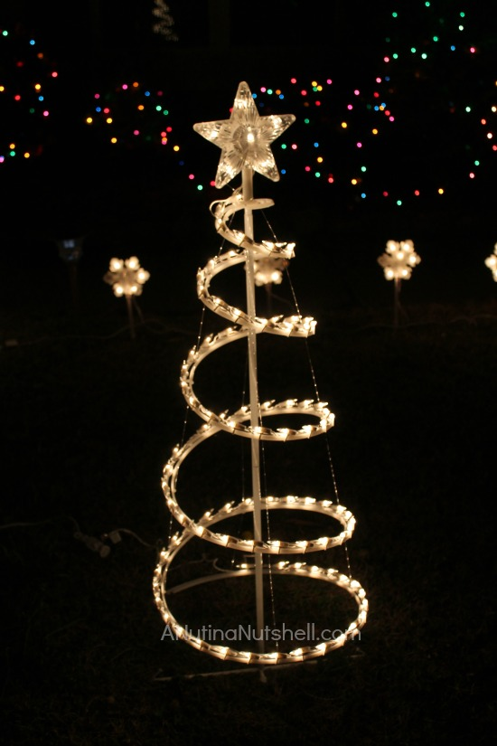 spiral Christmas tree - outdoor holiday decorations