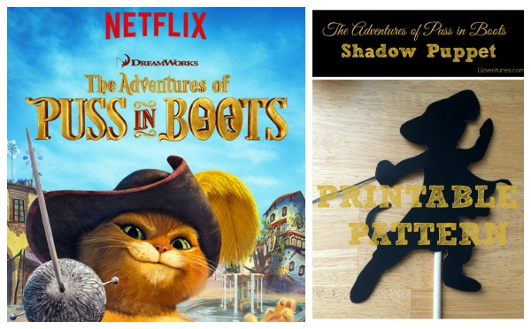 Adventures of Puss in Boots Netflix - shadow puppet craft