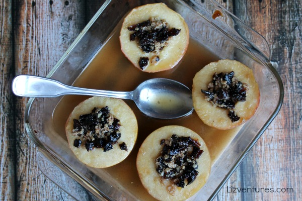 Baked Apples Recipe - Plum Crumble Topping