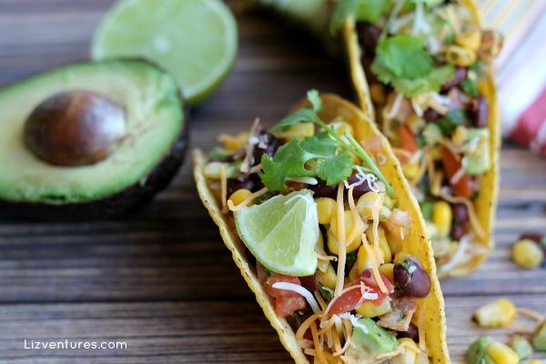 Chicken Tacos with Avocado Corn Salsa recipe