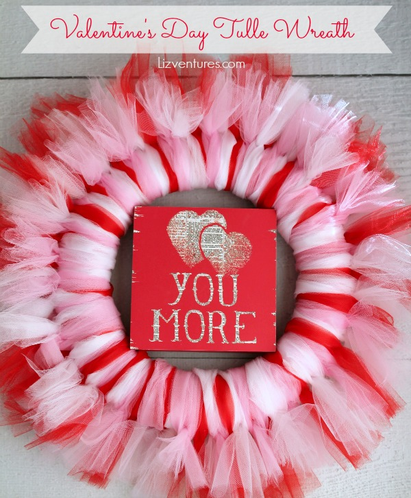 1feec81c7 How to Make a Tulle Wreath - Valentine's Day craft