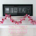 Valentine's Day Fabric Garland