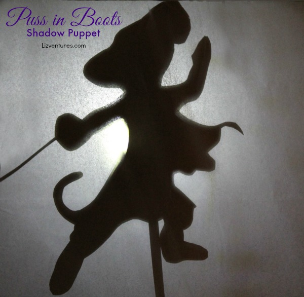 Puss in Boots shadow puppet silhouette