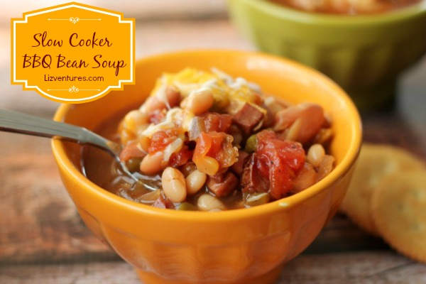 Slow Cooker BBQ Bean Soup